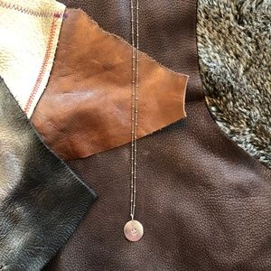 "18"" SATYA Sterling Silver necklace Lotus pendant"